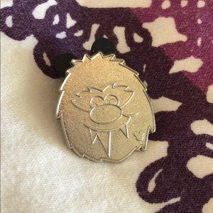 Silver Bigfoot Face Hidden Mickey Disney Pin